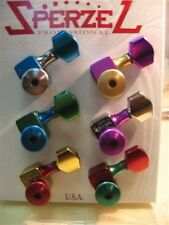 Sperzel Guitar 6 in Line Tootie Fruiti Multi Colored Guitar Tuners Pegs