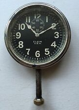 1918 Elgin 8 Day Dash Car Automobile Long Stemmed Clock Watch Part/Restore