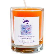 CANDLE - JOY Herbal Magic Soy Votive in Glass Holder - from Crystal Journey