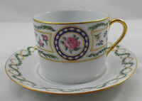 Haviland Limoges LOUVECIENNES large breakfast cup and saucer UNUSED
