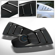 BLACK GT 3 VENT STYLE REAR 1/4 QUARTER SIDE WINDOW LOUVERS V2 05-14 FORD MUSTANG