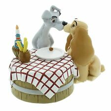 Disney Magical Moments Lady and Tramp Table Love Figurine Ornament 11cm DI193