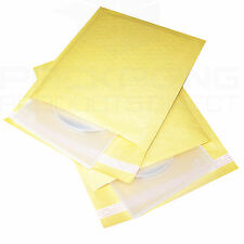 100 Gold Padded Bubble Envelopes 165x210mm DVD