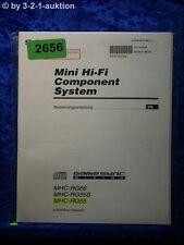 Sony Bedienungsanleitung MHC RG66 /RG55S /RG55 Component System (#2656)