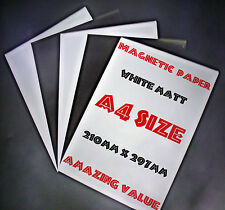 MAGNETIC PAPER Sheet  - WHITE MATT x5 *A4*