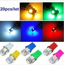 20x T10 5050 W5W 5 SMD LED Car Side Wedge Tail Light Lamp Bulb 12V Mix Color