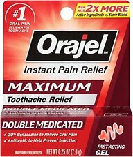 Orajel Maximum Stregnth Gel Instant Toothache Pain Relief .25oz Each