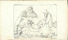 Stampa antica SEPOLTURA DI ATALA Chateaubriand 1808 Old antique print