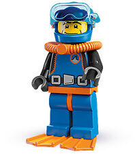Lego 8683 Minifigures Series 1 Deep Sea Diver (SEALED) Guaranteed NEW + Original