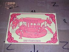 San Francisco California Powell Mason Hyde Cable Car Art Turn Table Manual Push