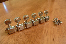 GUITAR TUNERS TUNING PEGS VINTAGE STYLE 6 IN LINE NICKEL FOR STRAT OR TELECASTER