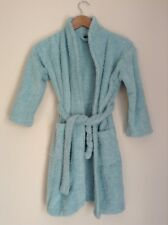 Zig Zag Dressing Robe Children's Age 7-8 Yrs Turquoise  M1022