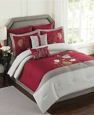Ellery Homestyles Mulberry 8 Piece King Comforter Set RED T510