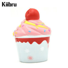 New 10CM Kiibru Cherry Ice Cream Squishy Very Slow Rising Scented Toys Cup Cake