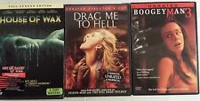 Lot of 3 Thriller Horror Boogeman 3 House of Wax Drad Me to Hell