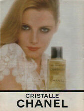 Publicité Advertising  eau de toilette  CRISTALLE CHANEL  paris