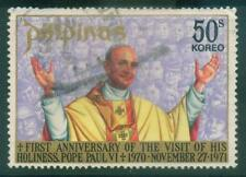 [JSC]1970 Philipinas Visit of Pope Paul VI Commemorative Stamp