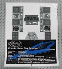 LEGO Star Wars 10221 Super Star Destroyer - AUFKLEBER / STICKER Decals Stickers