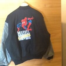 OFFICIAL MARVEL COMICS SPIDERMAN LEATHER JACKET – MADE IN USA – SIZE LARGE