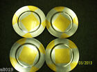 """Charger Plates 13"""" Gold/Silver Set of 4 Plastic Decorative Pieces"""