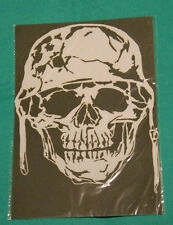 skull with helmet Mylar reusable stencil 10 mils for Airbrush design art tattoo