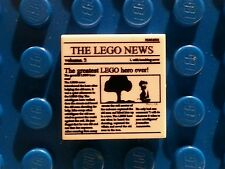 LEGO White Tile 2x2 with Newspaper 'THE LEGO NEWS' MINT 10937 10233 76005 NEW!