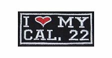 I Love my Caliber 22 Biker Heavy Rocker Patch Aufnäher Kutte Motorrad Badge Gun