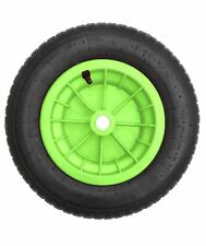 "14"" Lime Verde PNEUMATICO CARRIOLA RUOTE CAMION Trolley 3.50/4.00-8 1/2"" Foro"