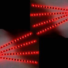 8 X Red 15 LED 30cm Car Auto Grill Flexible Waterproof Strip Light SMD 12V Sales