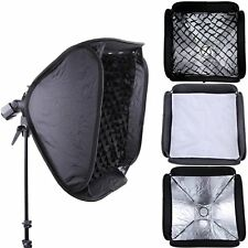 PRO 80x80cm Softbox +Honeycomb Grid For SpeedLight Flash Bowens/Elinchrom Mount