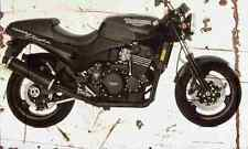 Triumph SpeedTriple 1994 Aged Vintage SIGN A4 Retro