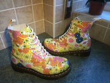 Vgc! Sz4 Dr.Martens Pascal Floral Leather Lace Up Ankle Boots EU37