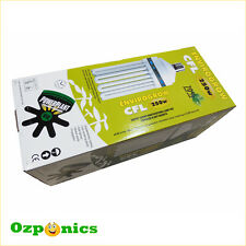 HYDROPONICS POWERPLANT 250W CFL GROW LIGHT DUAL COLOR COMPACT FLUORESCENT LAMP