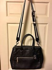 MARC JACOBS Gotham East West tote Black Crossbody Pebbled Leather $550 **EUC**