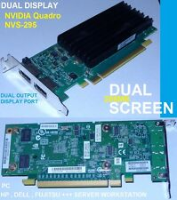 Graphic card PC & SERVER NVIDIA Quadro NVS-295 Dual-Display CUDA 8x CORE GDDR3