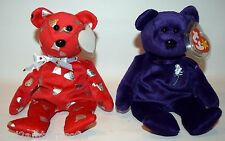 Lot of 2 Ty Beanie Baby (Princess Diana Memorial Fund/Yummy Hershey's Kisses)#2