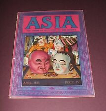 Vintage Asia Magazine for April 1923 Japan , China , Rare Photographs Cover Art