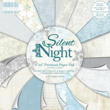 FIRST EDITION SILENT NIGHT - SAMPLE PACKS 16 X  6 x 6 PAPERS - FOR CRAFTS