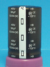 ELECTROLYTIC CAPACITOR PANASONIC 2 PCS 560uf 400v SNAP IN CAN GUITAR NOS