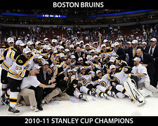 BOSTON BRUINS 2010-11 TEAM 8X10 PHOTO HOCKEY PICTURE NHL STANLEY CUP CHAMPS