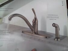 Delta Classic Single Handle Stainless Kitchen Faucet With Sprayer #400-SS-DST