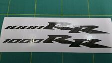 2x Honda CBR 1000RR Fireblade Carbon Fibre Decal Sticker Motorcycle Vinyl