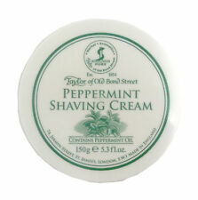Taylor of Old Bond Street Shaving Cream Peppermint Oil 150g Forms Creamy Lather