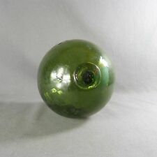 Antique French Blown Glass Buoy Float Ball Globe Round Sphere Huge Green
