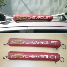Logo Roof Rack Pad Red Color Cushion 2Pcs For CHEVROLET 2006-2015 2016 Captiva