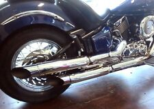 1997-2003 YAMAHA XVS 1100 DRAG STAR SLASH CUT EXHAUST (Highway Hawk 652-4064)