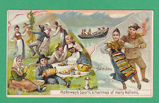 THOMAS  HOLLOWAY  LTD.  -  RARE SPORTS & PASTIMES CARD  -  SWEDEN  -  1900
