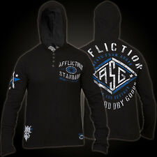 Mens XXL AFFLICTION TRANSPORTER Seek Destroy NEW Button Up Hooded T shirt NEW