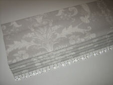 NEW Laura Ashley Josette Toile Dove Grey Linen Fabric Beaded Trim Roman Blind
