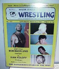 1983 WWF Wrestling Program Magazine John Studd Giant